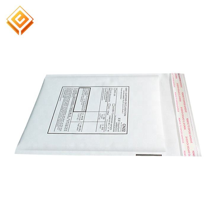 Factory Cheap custom white Kraft padded envelopes mailing bags white Kraft bubble mailer