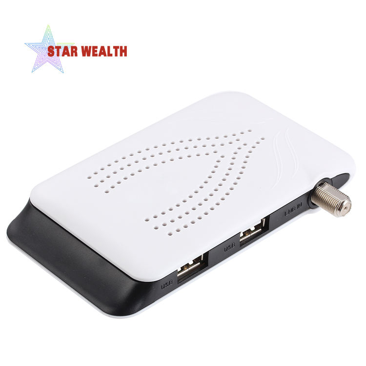 Stock 500 pcs dvb s2 international android tv box mini digital satellite tv récepteur avec cccam