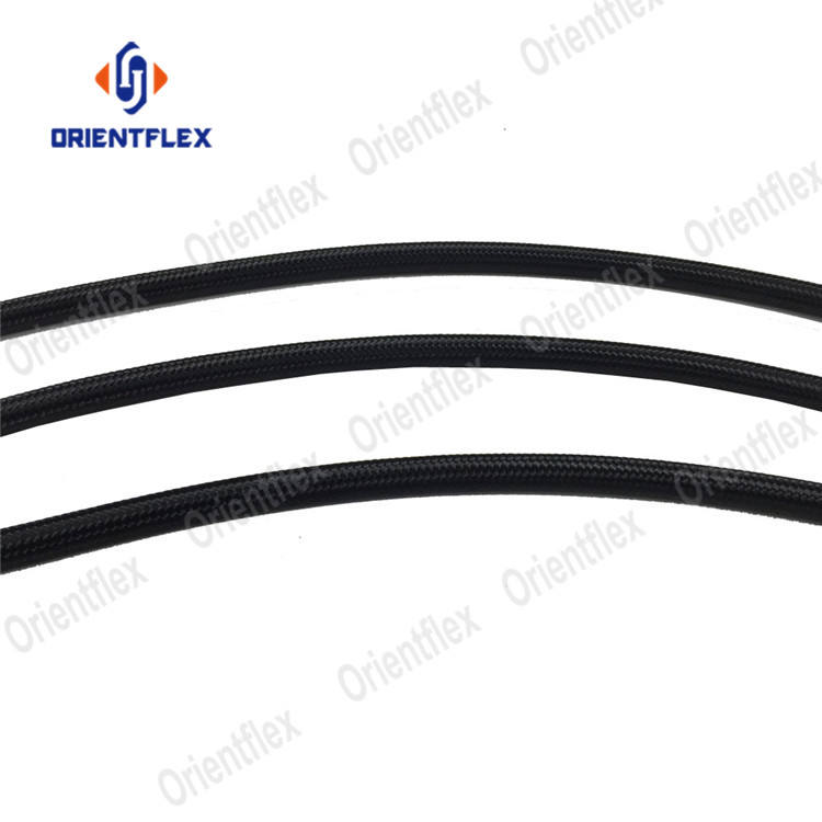 Black nylon braided an car transmission oil hose for transmission fluid