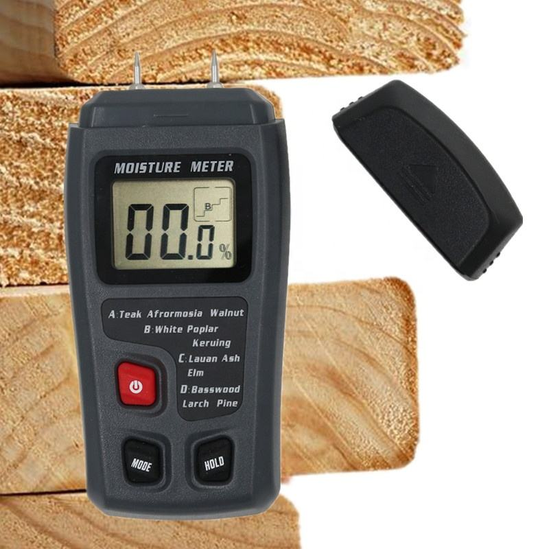 Two Pins 0-99.9% Digital Wood Moisture Meter Humidity Tester Hygrometer Timber Damp Detector sense with Large LCD Display