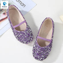 Kids Fashion Glitter Princess girls ballet flat shoes for girls