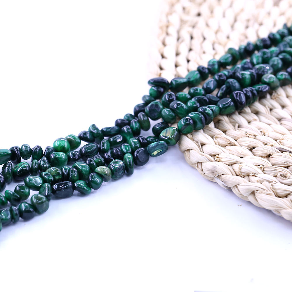 XULIN Wholesale Raw Natural Gemstone Beads Green Tiger Eye For Jewelry Making 8-10mm Loose Beads
