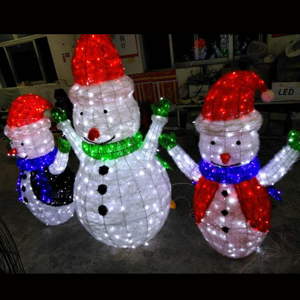 Hot sell LED light up christmas snowman for both indoor and outdoor use