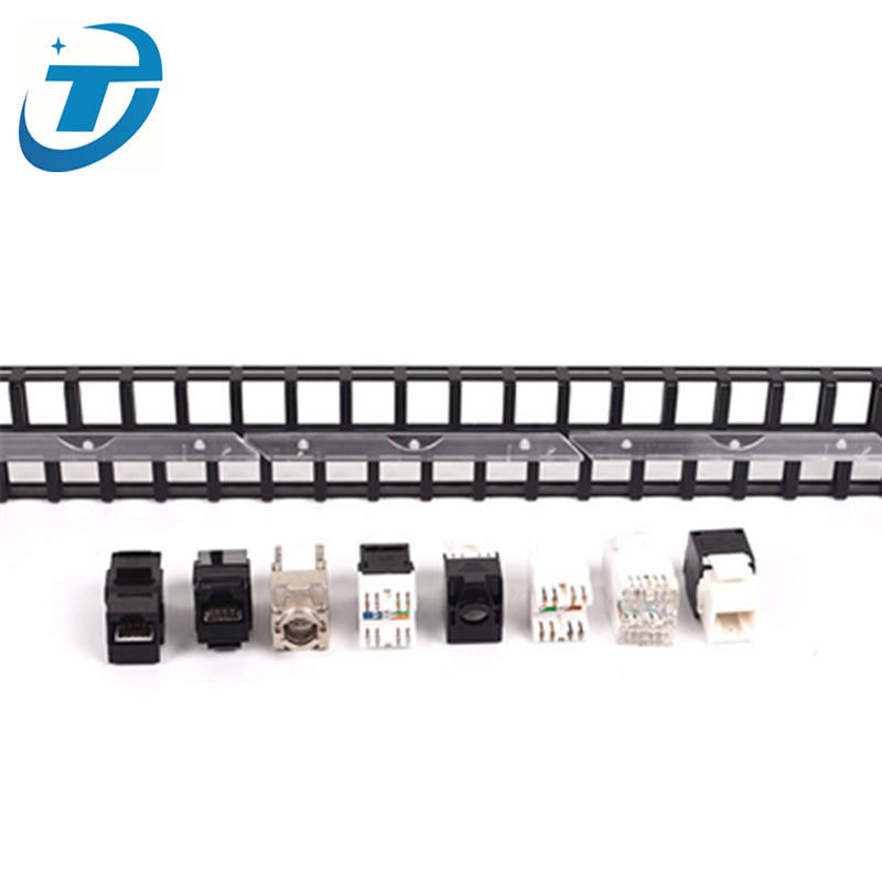 High density keystone jack type utp cat7 cat6 48 port blank patch panel