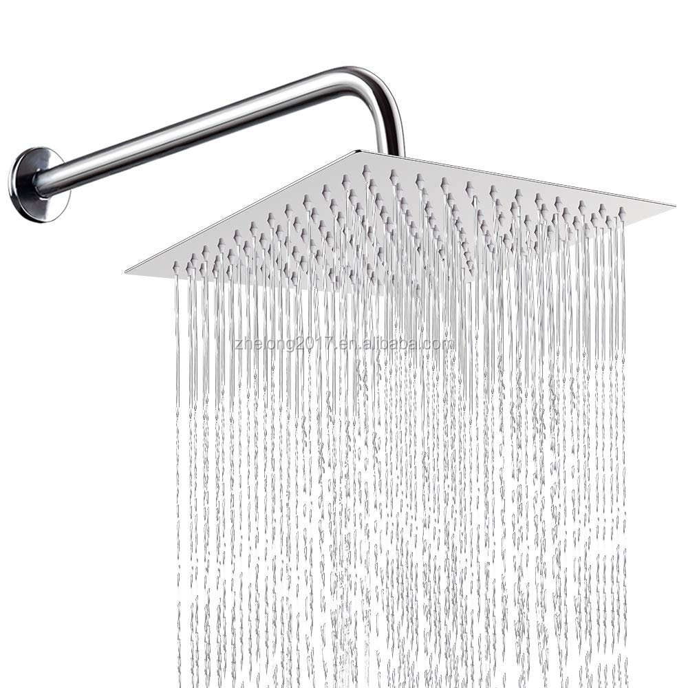 Square Stainless Steel Bathroom Rain Top Shower Head 6/8/10/12