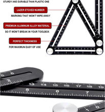 #Aluminum Alloy Ruler Angle Template izer Tool Multi Measuring Tool