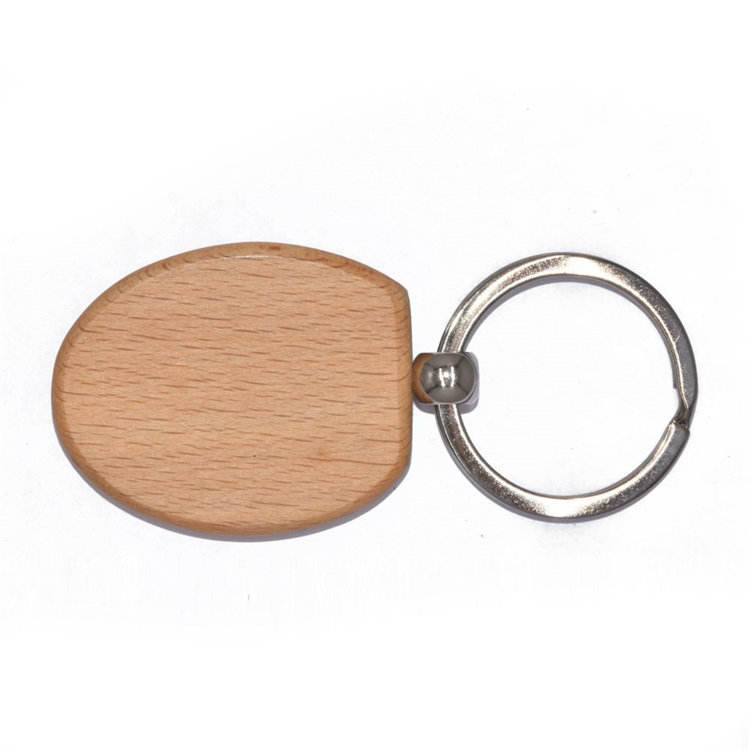 Personalized souvenir custom logo mens mini gift sublimation round shaped blank wooden keyrings