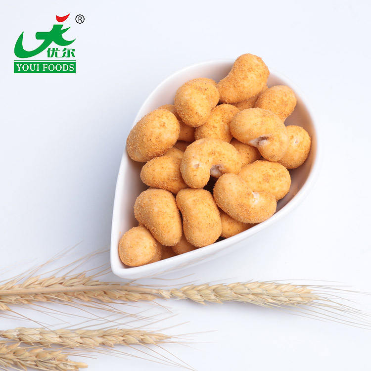 Spicy Flavor roasted healthy Coated Cashew Nut international selling price of cashew nuts vegan nut roast