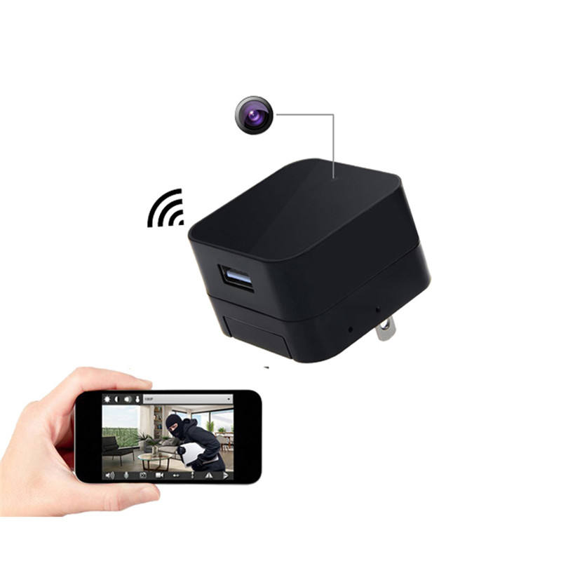 A8 USB Wall Charger Adapter Camera 1080P Mini WIFI IP Camera AC Power Socket Plu Camera Cam
