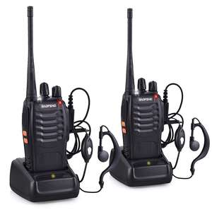 Baofeng BF-888S Walkie Talkie Tragbare Radio BF888s 5 W 16CH UHF 400-470 MHz BF 888 S Comunicador Sender transceiver