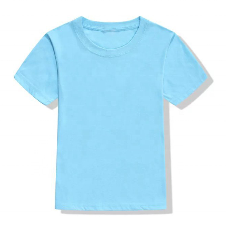 Boys and Girls Cotton children sport cultural t shirt baby kids solid color blank plain custom logo t shirt