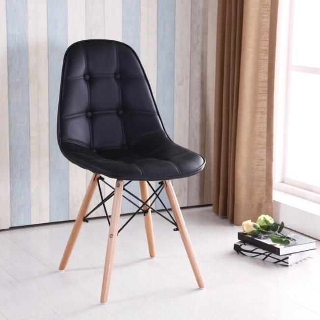 Wooden Design PU PP PVC Metal Frame Dining Chair