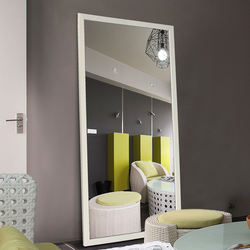 Black border large floor hanging mirror for clothing store