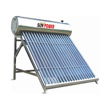Rooftop Low Pressure Vacuum Tube Stainless Steel Sun Power Sus304 Solar Water Heater