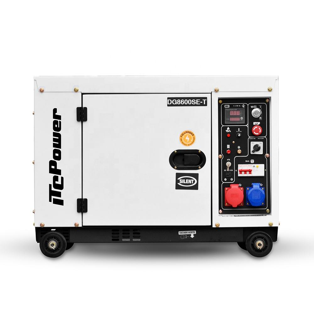 Strong frame 5kva silent electric start generator with reasonable price