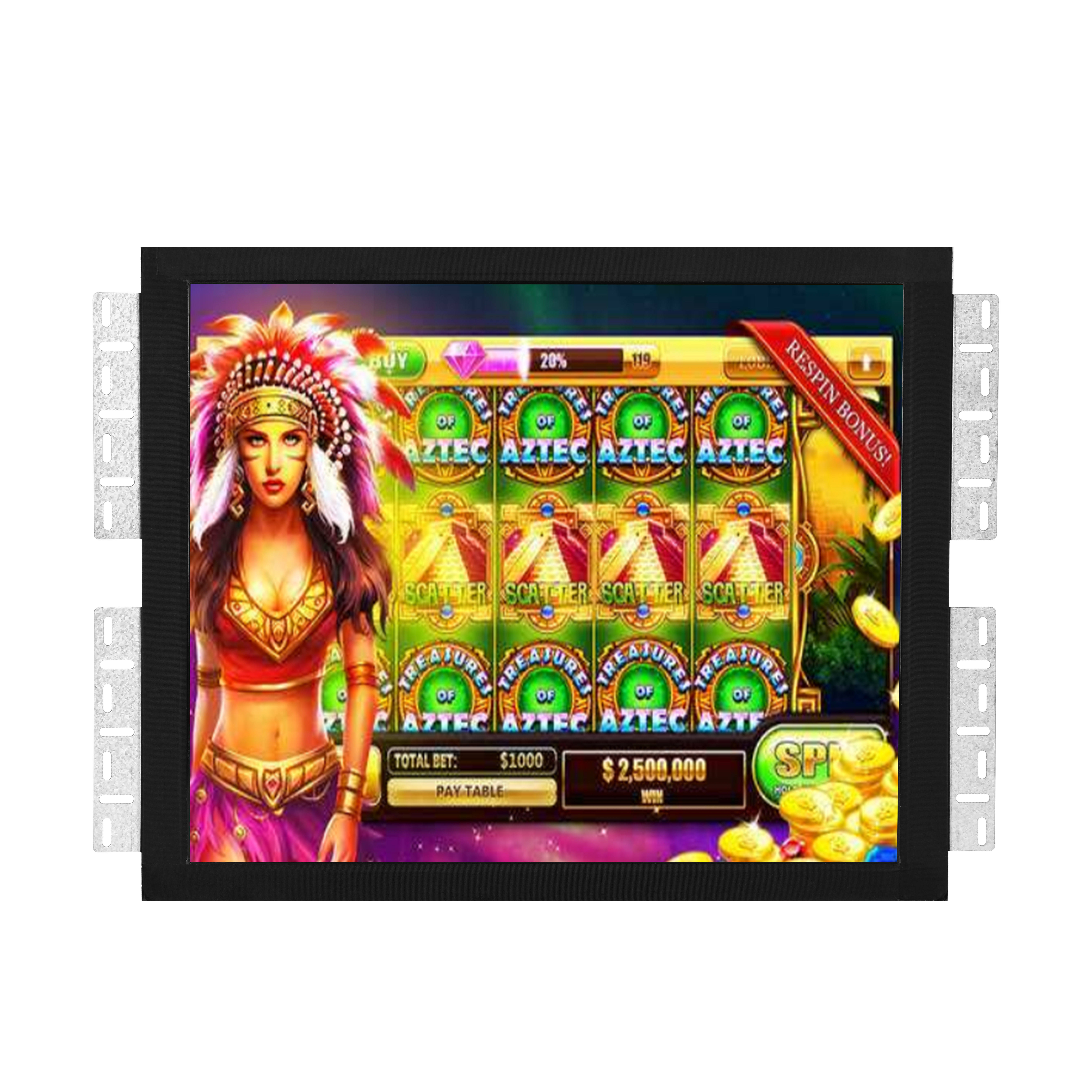 "19 ""Pot O Gold Game Monitor met <span class=keywords><strong>Infrarood</strong></span> Touch Screen Voor Pog Game"