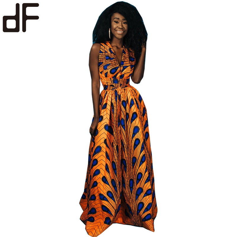 high quality wax java print ankara fabric african yellow batik print dress africa wax dress backless batik casual summer dress