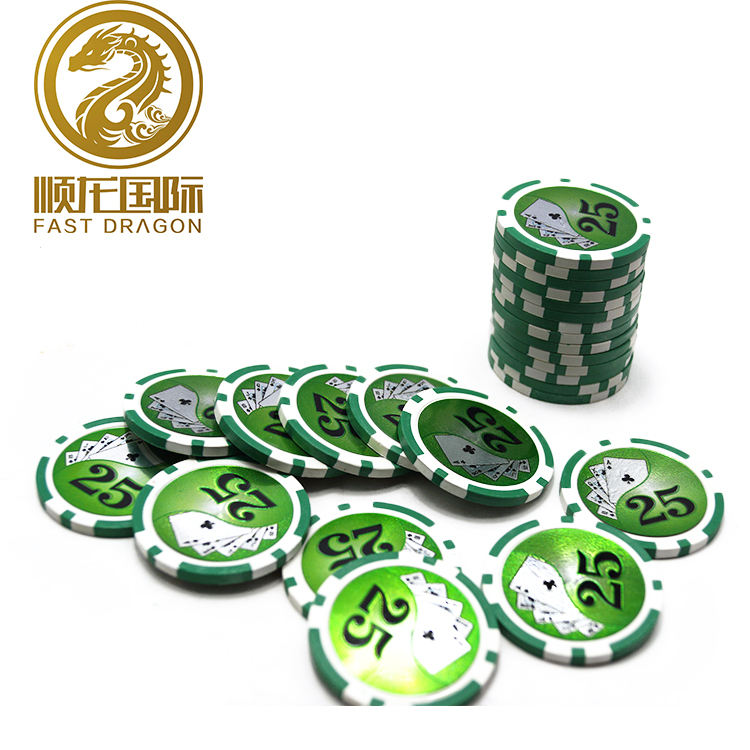 Neue design USA stil poker chip mit aufkleber für print logo spielen poker chip