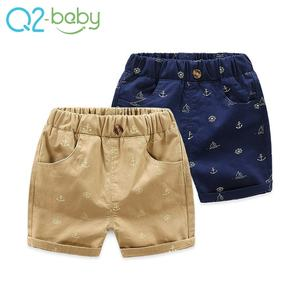 Boys casual pants summer baby shorts kids thin section five pants children clothing alkza113