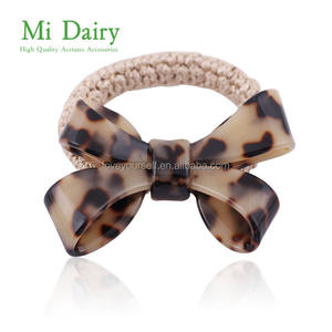 Fashion Women Elegant Style Hair Ties Ladies Cellulose Acetate Elastic Hair Bands With High Quality