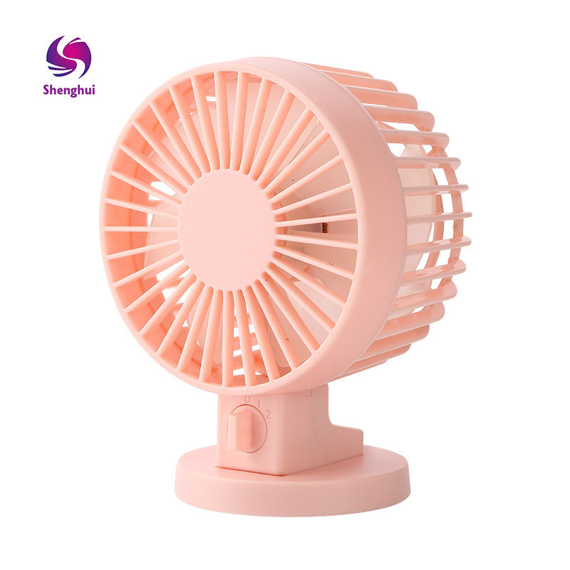 Potable Desktop Double-Leaf Electric Fan,Mini USB Charging Small Fan,with Auto Rotary Shaking Head Silent Dual Motor,for Office Home Use,12/×7/×17CM