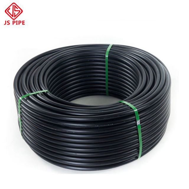 16mm PN16 Black plastic water pipe roll flexible HDPE drip irrigation pipe