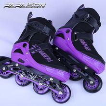 PAPAISON hot sell 4 PU light  wheel X-large size adults inline skates ROLLER speed skates