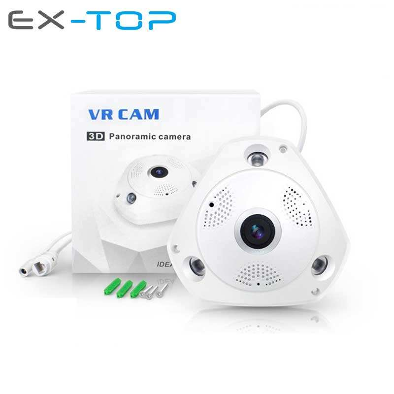 Smart Home Email Alarm 3MP P2P 360 degree VR Fisheye CCTV PTZ Wireless IP Camera