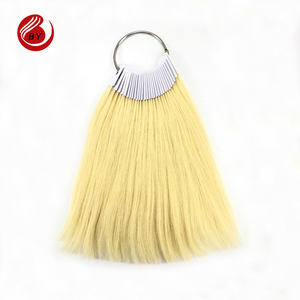 100% real human hair color ring, human hair for color testing