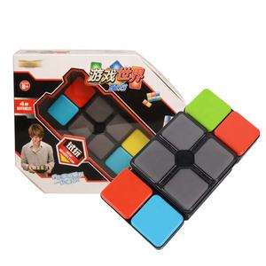 intelligent coordination multi modes electric toys game hundred changes music educational cube for parent-child interaction