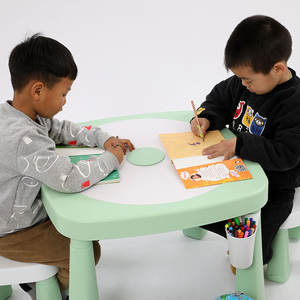 Foldable folding study sand and water homework wiring chair table for kids