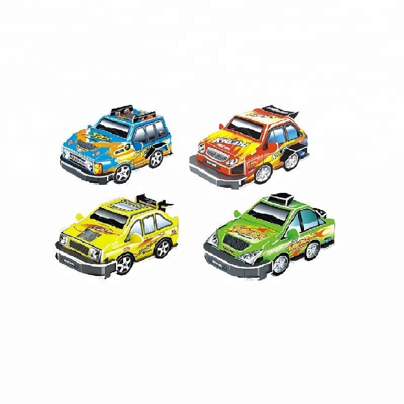 DIY 4 in 1 aksesuarları yarış pisti oyuncak <span class=keywords><strong>3d</strong></span> bulmaca araba çocuklar için