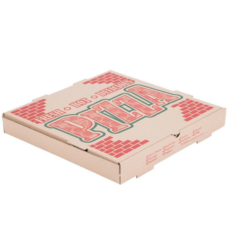 Коробка поставки пиццы картона гофрированная бумага для упаковки еды