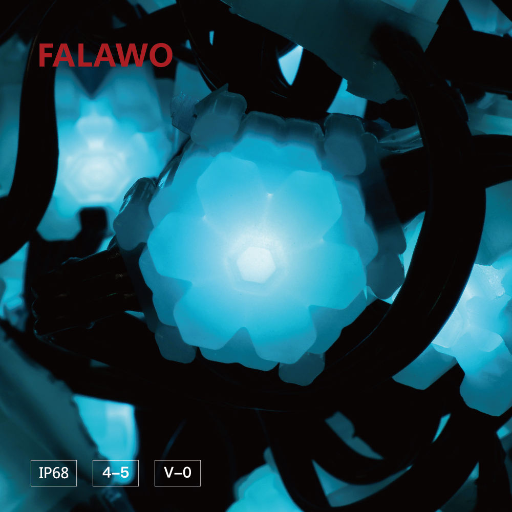 Falawo 14m Snow-shaped Led String Light