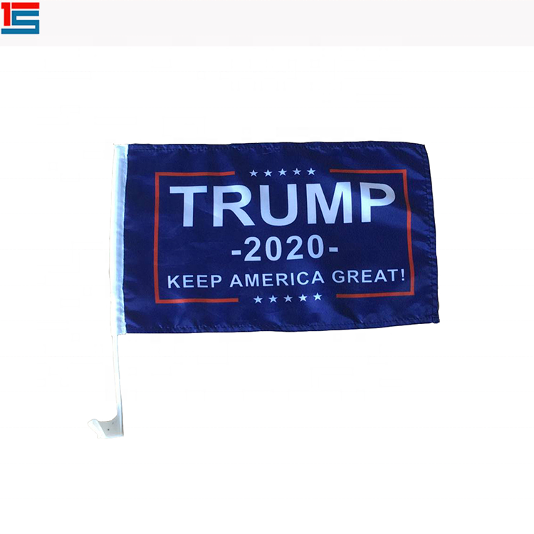 Hot sale custom 100%polyester Donald Trump 2020 Keep American great car flag