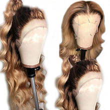 Wholesale Ombre Brown Body Wave Brazilian Virgin Human hair full lace Wigs for Women Pre Plucked  lace front wigs Blench Knots