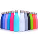 500ml Custom stainless steel double wall vacuum sports travel cola shaped water bottle