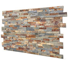 natural rustic slate stacked stone panel