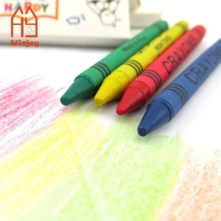 Custom Set packaging 4 pack crayons for Kids drawing Safty and Non-Toxic