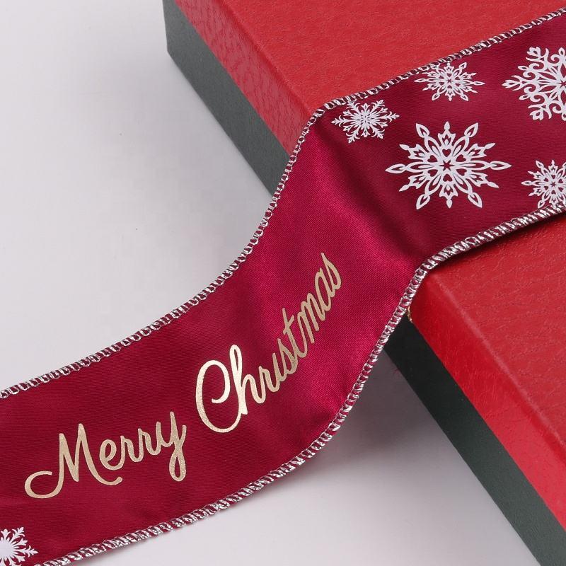 Рождественские украшения, ленты с проводной края