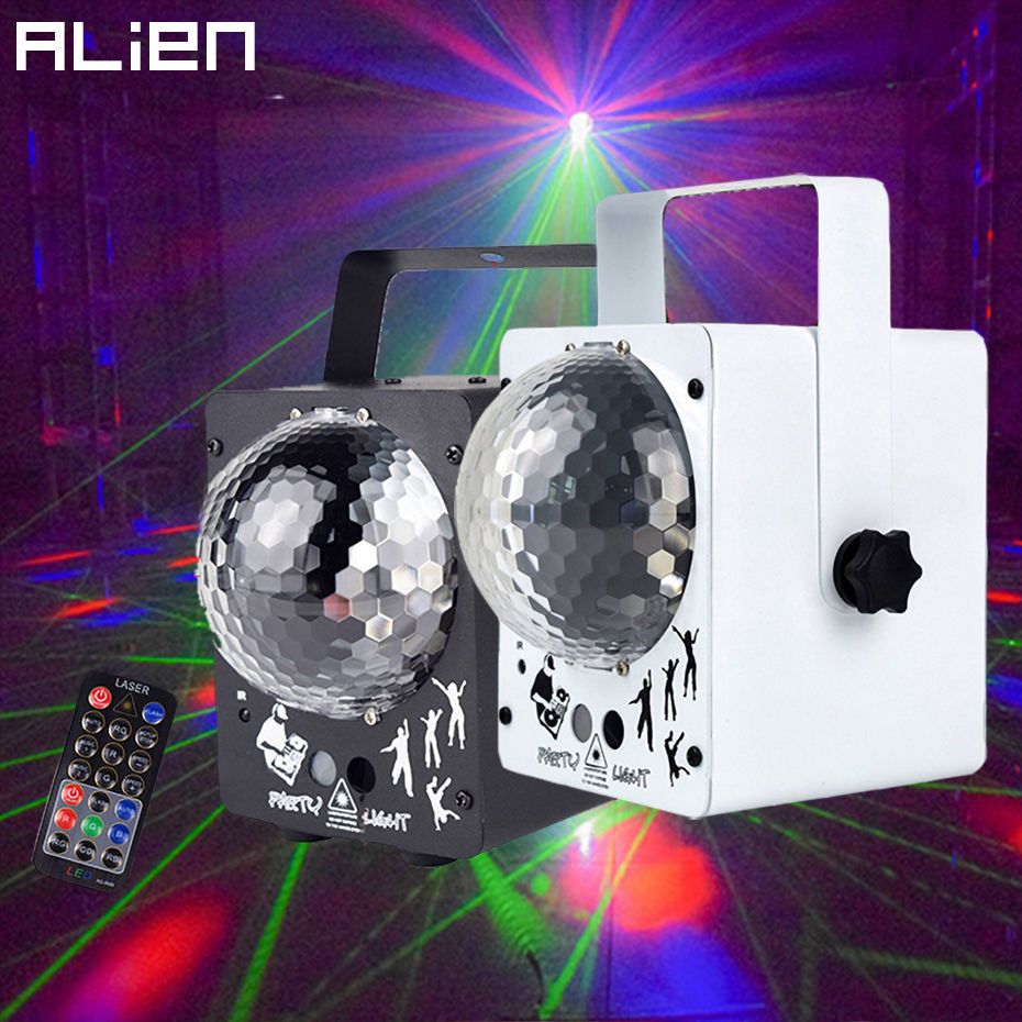 Led Crystal Magic Ball Light Home Party Disco Laser Lights