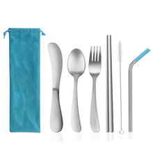 Kids Travel Utensils with Case,Stainless Steel Flatware Set Reusable Cutlery Set Traveling for Traveling Camping or School