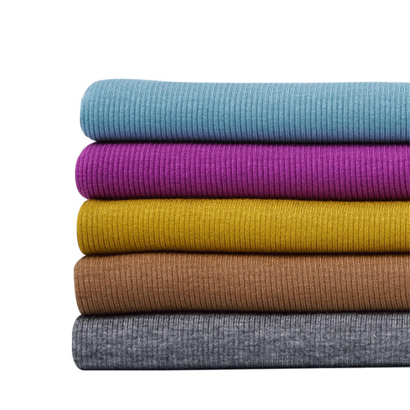 Commonly uses knitted rayon spandex french rib fabric