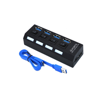 PC usb 30 charging hub Independent Power Switch  5Gbps  Splitter extension 4 Port  USB 3.0 HUB