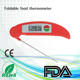 digital foldable lcd display temperature bbq thermometer with stainless steel