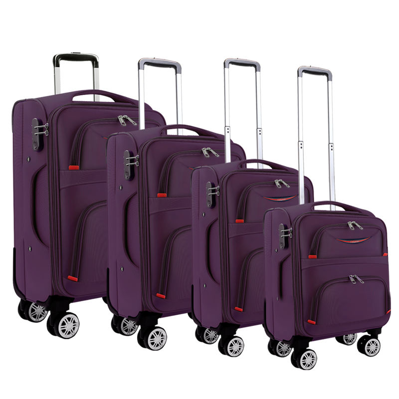 "4pcs 16""/20""/24""/28"" Waterproof Oxford Material Aluminum funky suitcase Travel Luggage Trolley Luggage sets"