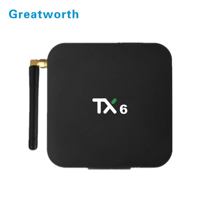 Terbaik Allwinner H6 TV Box Quad Core Tanix TX6 2 GB 16 GB 4 GB 32 GB 64 GB Android 9.0 TV Box Dual WIFI STB TX6