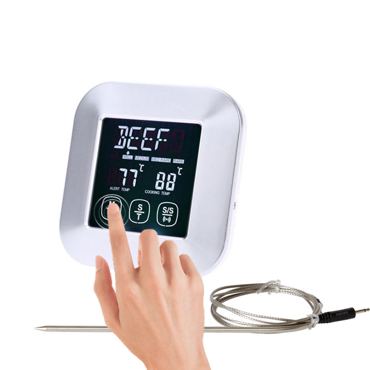 Kitchen touch screen cooking digital meat food thermometer