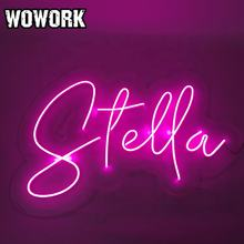 China WOWORK factory custom made acrylic neon light up letter sign decorative shop logo neon light