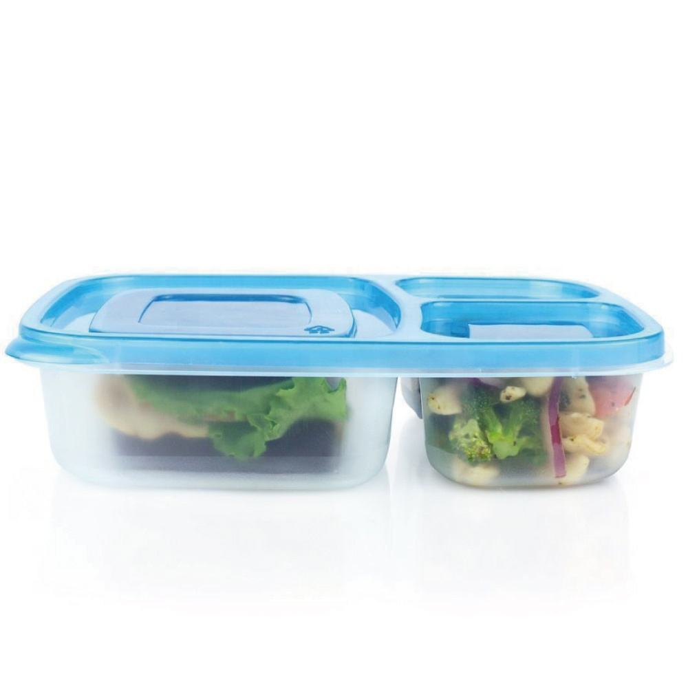 Kitchen Appliances Microwave PP Plastic 3 Compartments Food Container